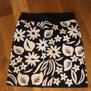 Black and white flower print Liz Claiborne petite